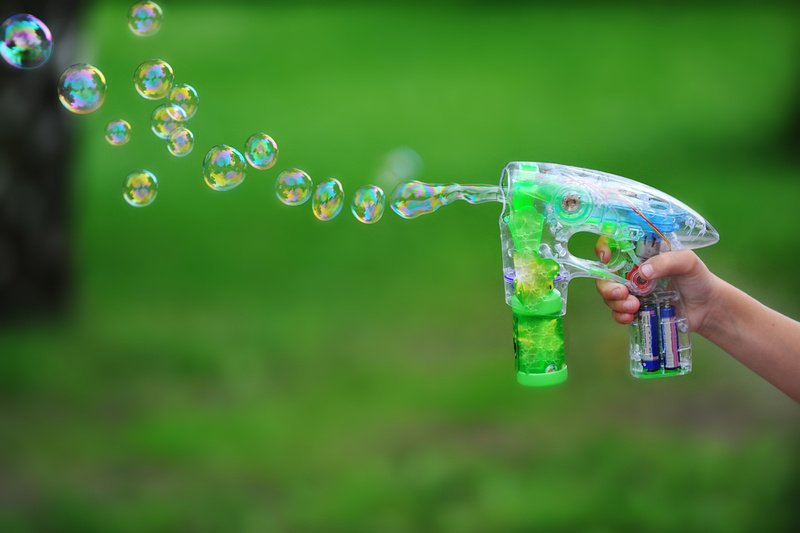 Bubbles add to the fun on a boating trip, but they also have a practical purpose in helping to gauge wind conditions.