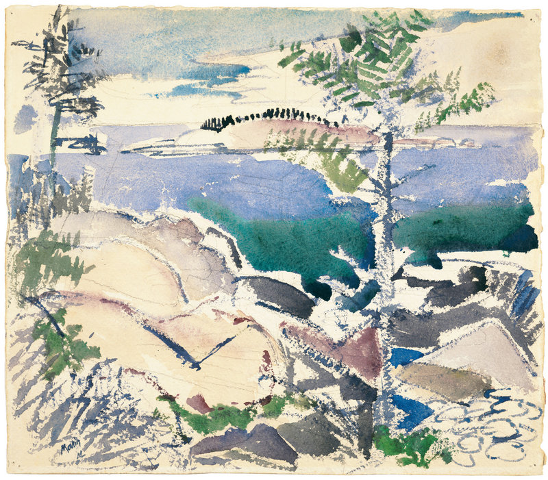 """Marin painted """"Big Wood Island"""" on his first visit to Maine, in 1914."""