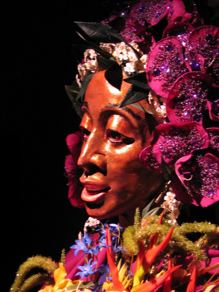 """A puppet Goddess Ceres created by Figures of Speech Theatre is incorporated into """"The Tempest."""""""
