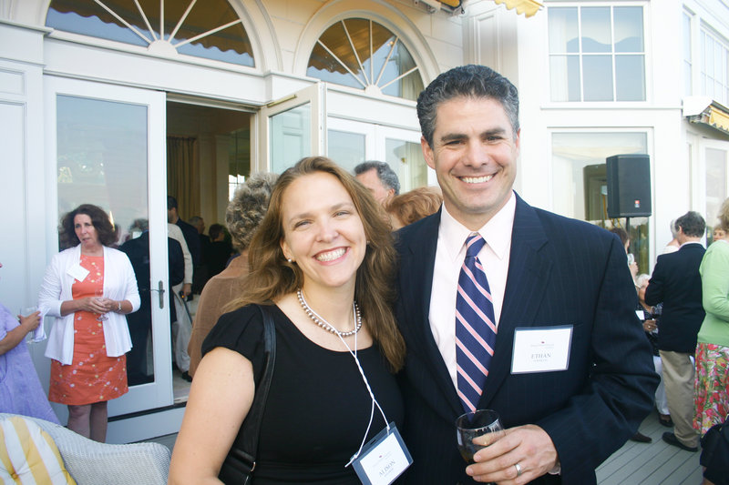 Alison Beeaker of Portland and her brother-in-law Ethan Strimling, former state senator of Portland.