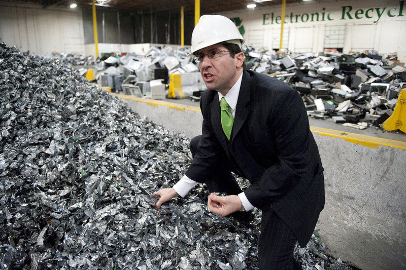 """""""This is urban mining,"""" said John Shegerian, CEO of Electronic Recyclers International in Fresno, Calif."""