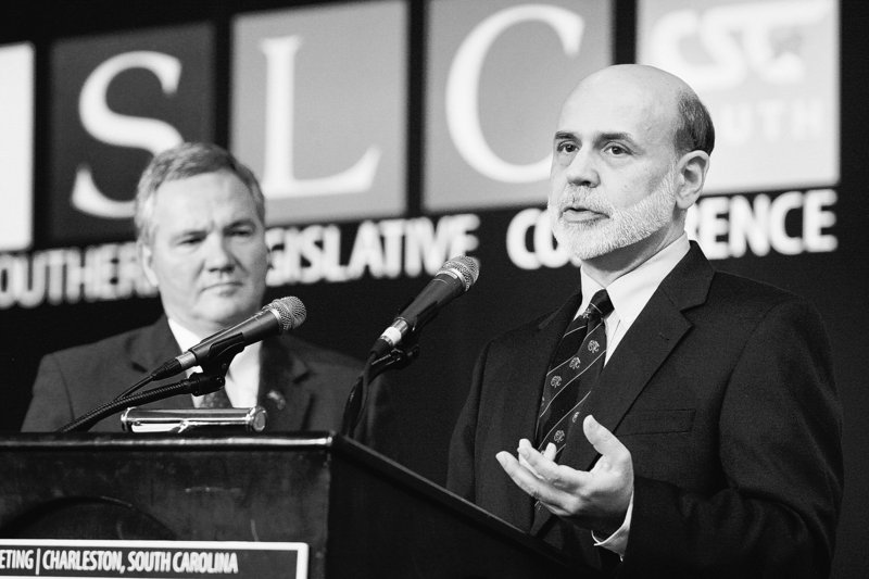 """The economy """"is now expanding at a moderate pace,"""" Ben Bernanke told the Southern Legislative Conference on Monday, """"but notable restraints"""" persist."""