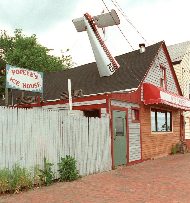 Popeye's Ice House bar, later known simply as the Ice House, stands on the corner of Bracket and York streets in Portland 10 years ago. It was torn down on Tuesday and will be replaced by a Mexican restaurant, said owner Tod Dana.