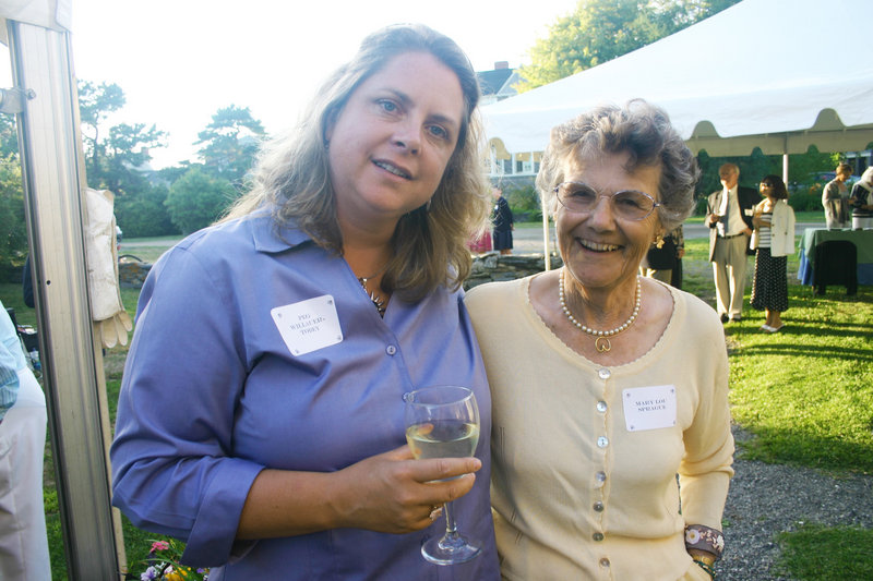 Peg Willauer-Tobey, who's related to Winslow Homer, and art supporter Mary Lou Sprague