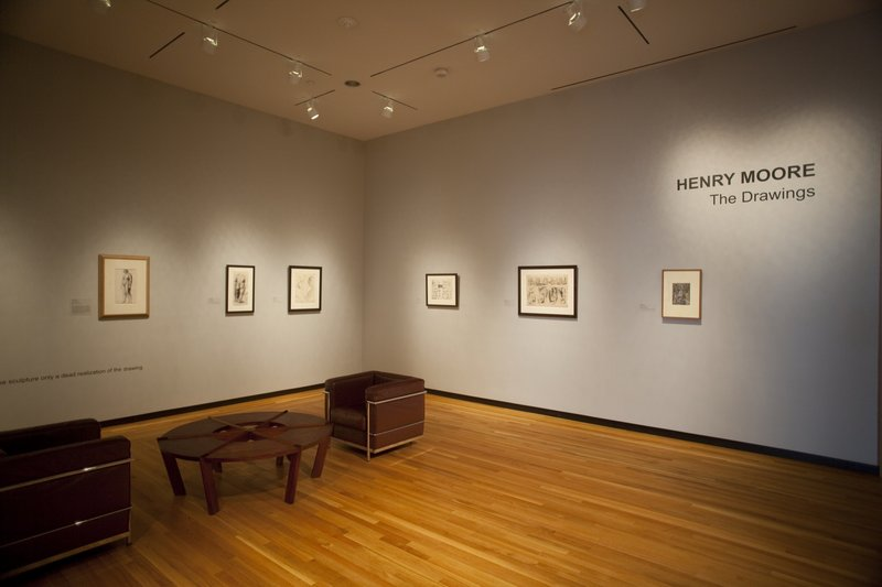 """Henry Moore: The Drawings"" at the Bowdoin College Museum of Art in Brunswick"