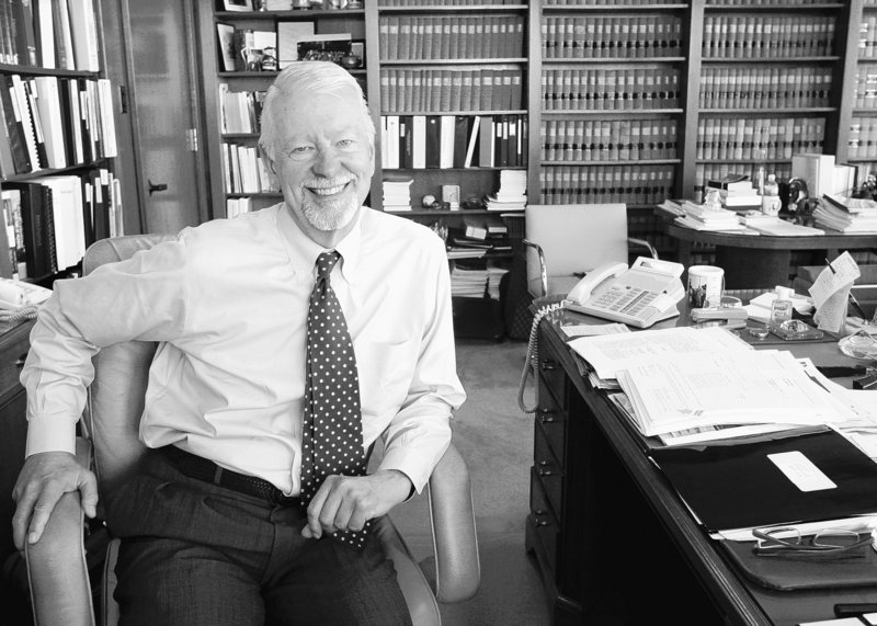 Judge Vaughn Walker is seen in his chambers at the Phillip Burton Federal Building in San Francisco, Calif. Walker ruled that Proposition 8 is unconstitutional but kept the law in place while he considers arguments from supporters of the ban to prohibit same-sex marriages until the case is resolved in the appeals courts.