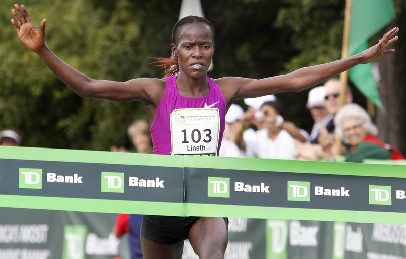 Lineth Chepkurui of Kenya added the TD Bank Beach to Beacon 10K course record Saturday to a resume that already includes the world record for 12 kilometers at the Bay to Breakers in San Francisco.