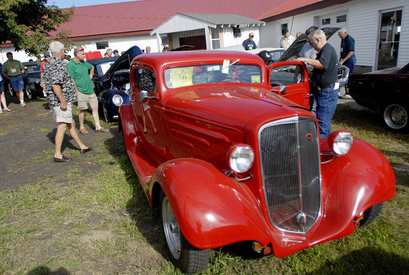 This 1939 three-window Chevrolet Coupe was the top car, bringing in $45,100.