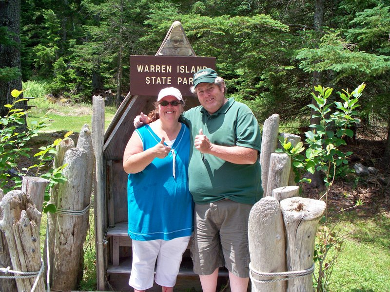 Warren Island was the last stop for Debi Pride and Wally Farnum.