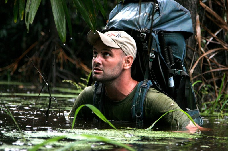 Ed Stafford of England walks through water in an unknown location in Peru during his journey along the Amazon river in 2008. On Monday, after 859 days and thousands of miles, he became the first man known to have walked the entire length of the Amazon River.