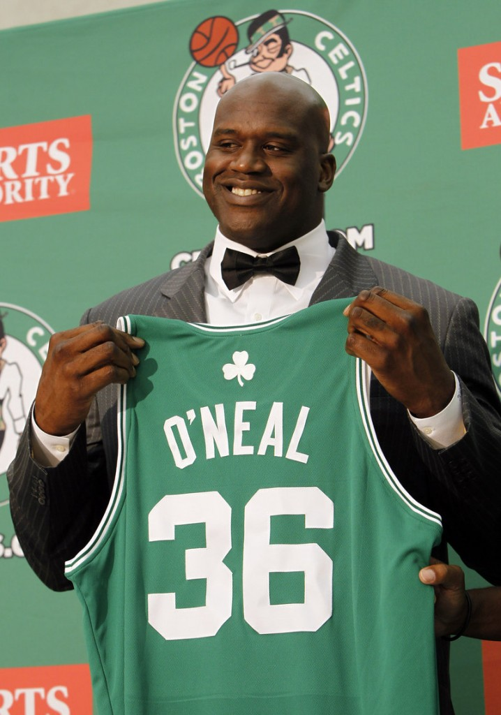 Shaquille O'Neal will wear No. 36 and a new nickname,