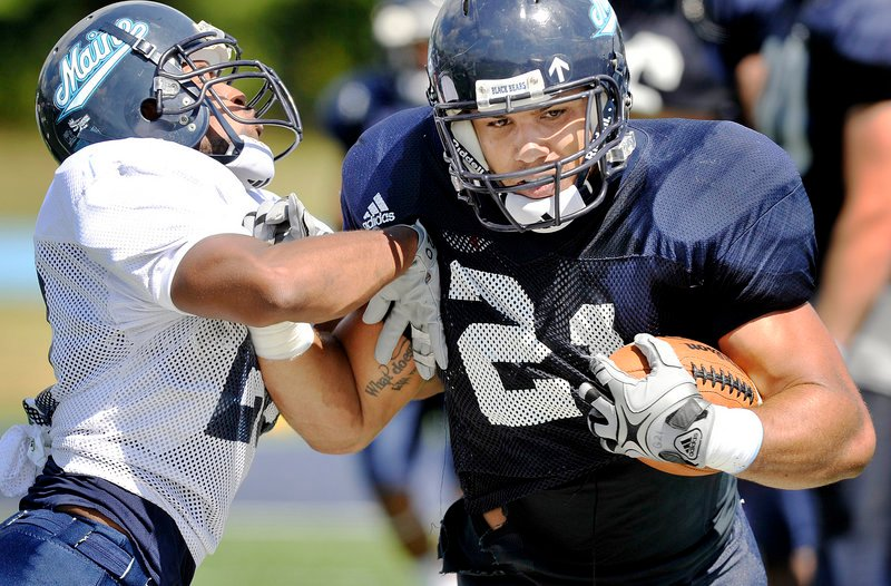 The return of running back Jared Turcotte, UMaine's rushing leader two seasons ago, should help provide the offensive balance the Black Bears will need if they hope to compete for a postseason berth. Turcotte missed last season because of an injury.