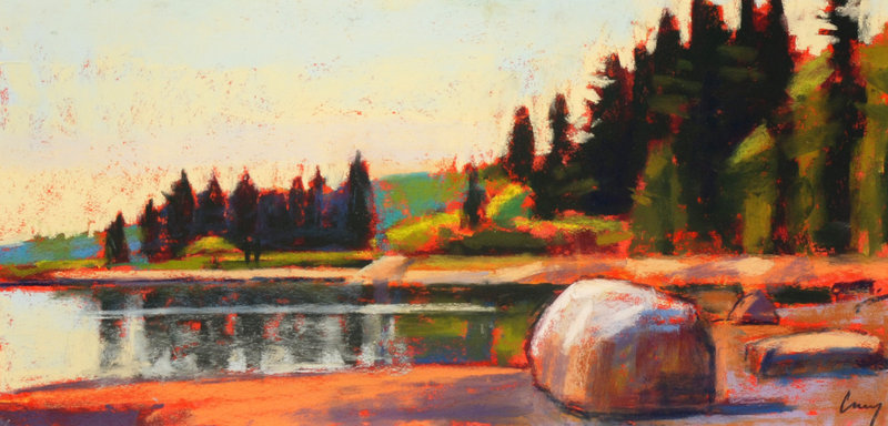 "Tom Curry, ""Stillness,"" pastel"