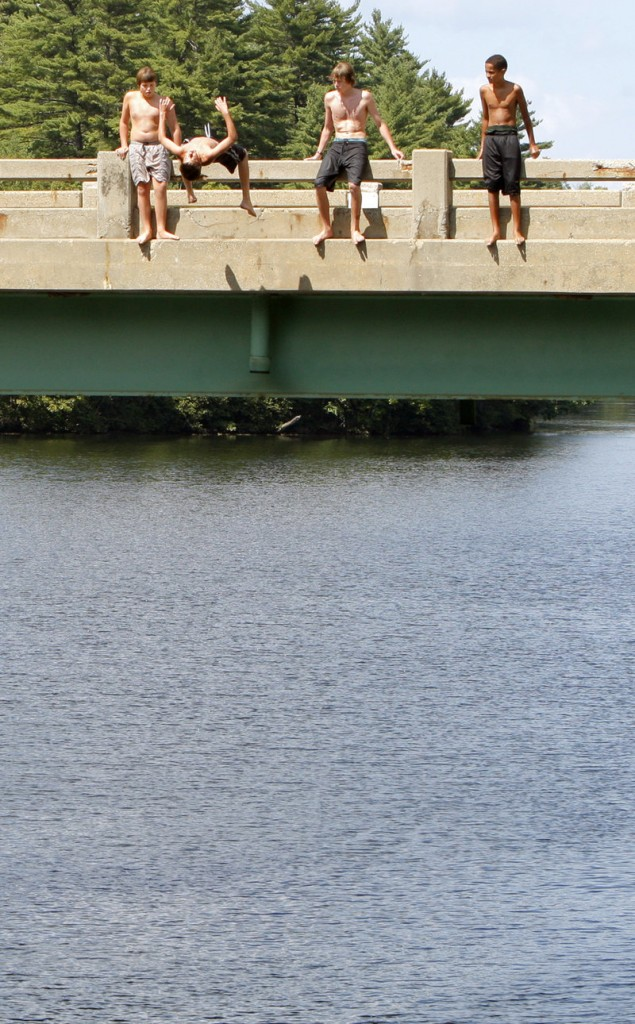 Many swimmers still jump from the Salmon Falls Bridge despite warning signs and police efforts to keep them away. In recent years, officers have written summonses for criminal trespass on the bridge, but the cases were never prosecuted.