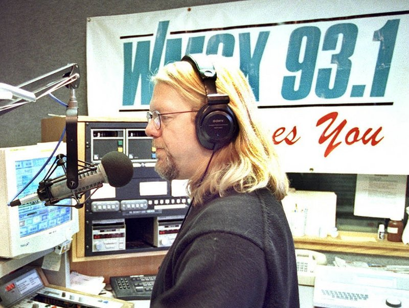 "Tim Wright does the morning show at WMGX 93.1 in South Portland in January 2000. He said he's ""looking forward to getting some sleep,"" and that he plans to stay in Maine."