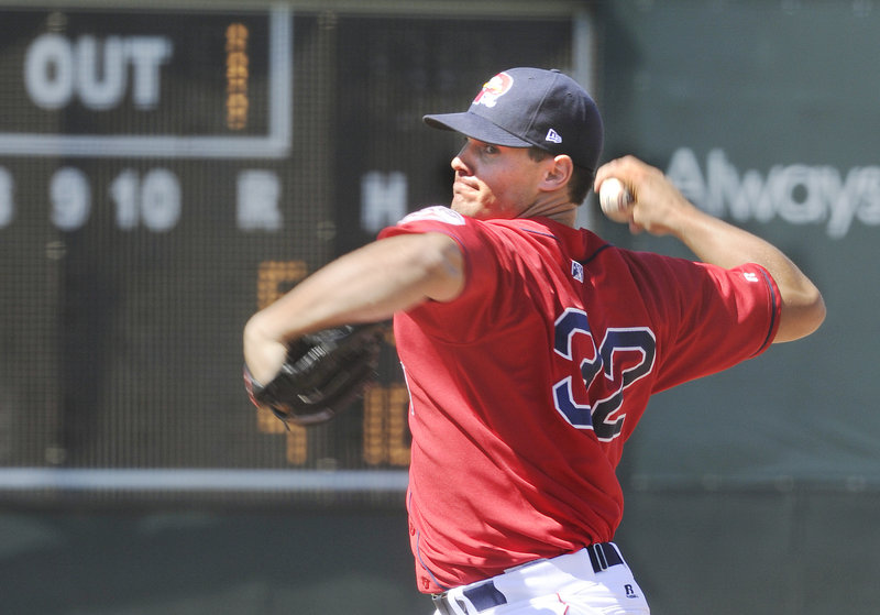 New Portland reliever Ryne Reynoso played for the Sanford Mainers in 2006, the same year he was drafted by Atlanta. He was cut from Triple-A Gwinnett County last month and Boston signed him July 23.
