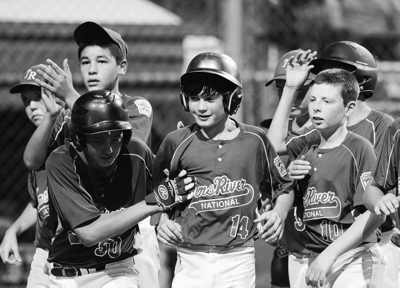 Patrick Marinaccio, center, and his teammates will try to become the second team from Toms River, N.J., to win a championship in the Little League World Series.