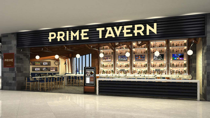 Prime Tavern, shown in an artist's rendering, opens today at Delta's LaGuardia terminal. The steakhouse's prices will about the same as at the Porter House in Manhattan.