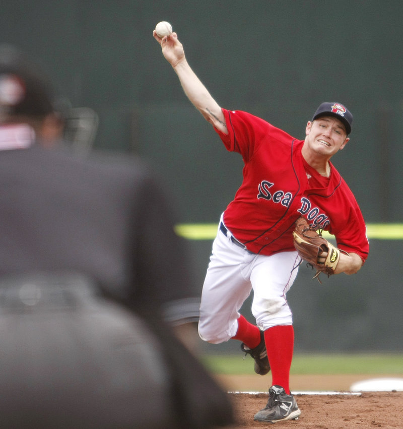 Portland starter Alex Wilson held Trenton to one hit, three walks and one run, while striking out eight. He said,