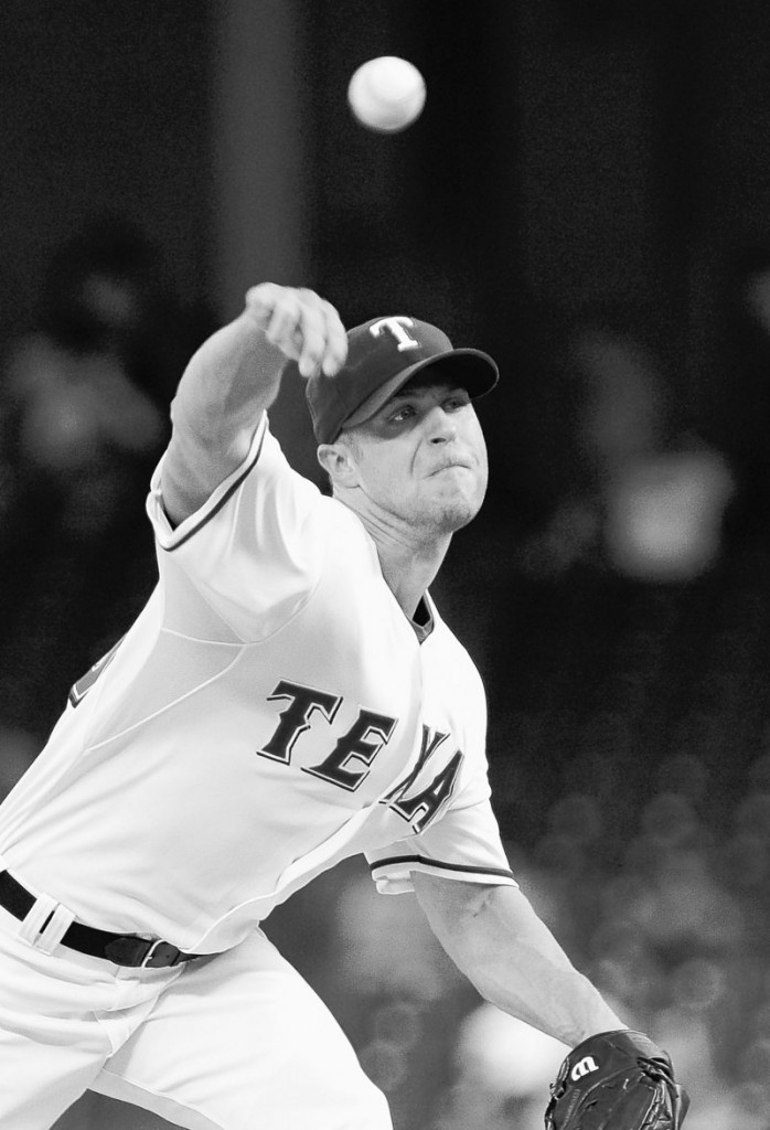 Texas pitcher Rich Harden threw 62⁄3 no-hit innings against Minnesota before the Rangers were forced to take him out of the game, due to a high pitch count.
