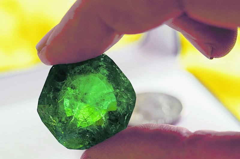 The Carolina Emperor, called the largest gem ever recovered in North America, weighed 310 carats before being cut.
