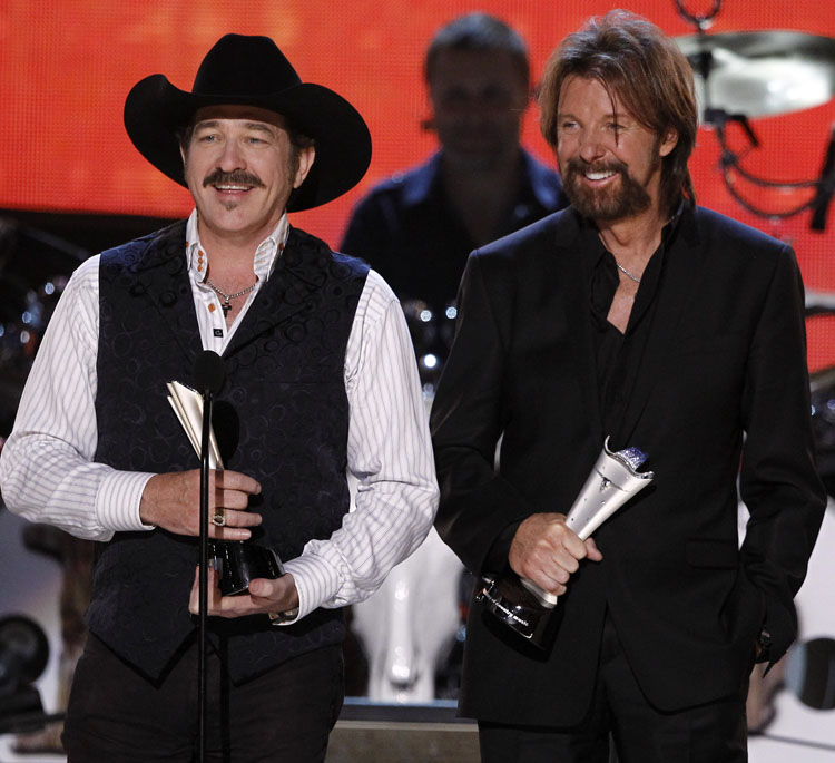 Kix Brooks, left, and Ronnie Dunn in a April 2010 file photo. The country music duo closed out a 20-year career with their 1991 debut single,