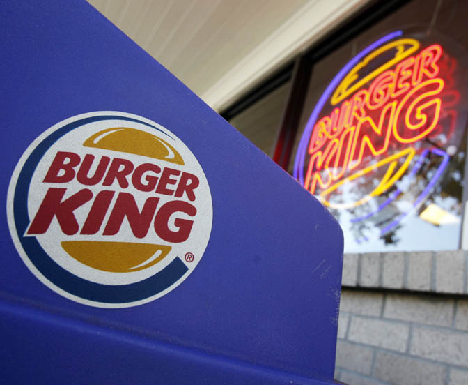 The Burger King in Mountain View, Calif., is one of the No. 2 chain's 12,100 locations around the world.