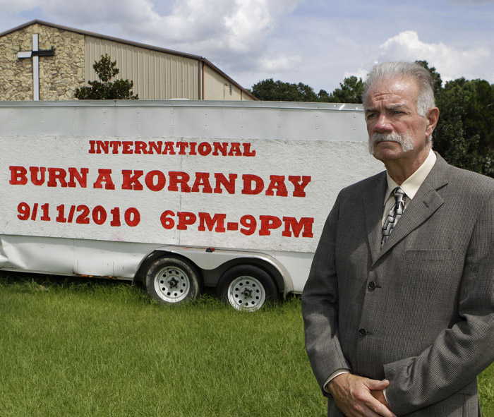Rev. Terry Jones at the Dove World Outreach Center in Gainesville, Fla., plans to burn copies of the Quran on church grounds to mark the Sept. 11, 2001, terrorist attacks on the United States that provoked the Afghan war.