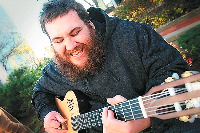 Singer-songwriter Zach Deputy performs on Thursday at One Longfellow Square in Portland.
