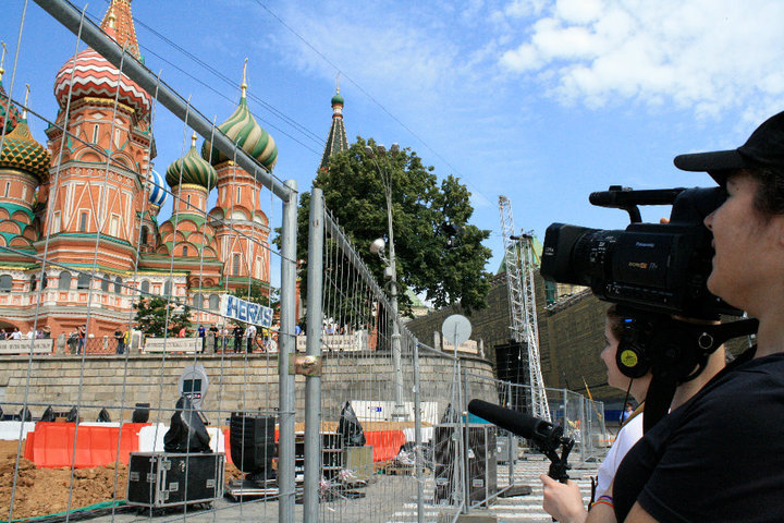 "Hannah Weddle was part of an all-woman crew filming the documentary ""Glasnost Coda"" in Russia."