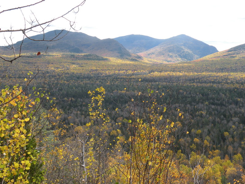Backpackers take in views like this from the Freezeout Trail, once a rough logging road that has become a hiking path.