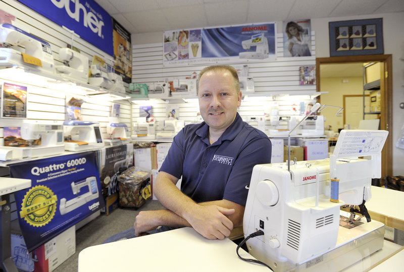 Tony Ferland, owner of Tony's Sewing Machines in Biddeford, recently expanded the scope of his business by adding vacuum cleaners – sales, service and repair – to his product line.