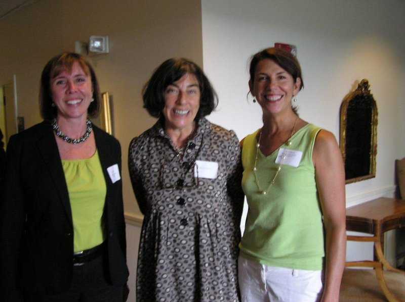 Attending the Friends of the Eastern Promenade luncheon are, from left, Friends Vice President/Treasurer Colleen Bedard, Roxanne Quimby and Friends President Diane Davison.