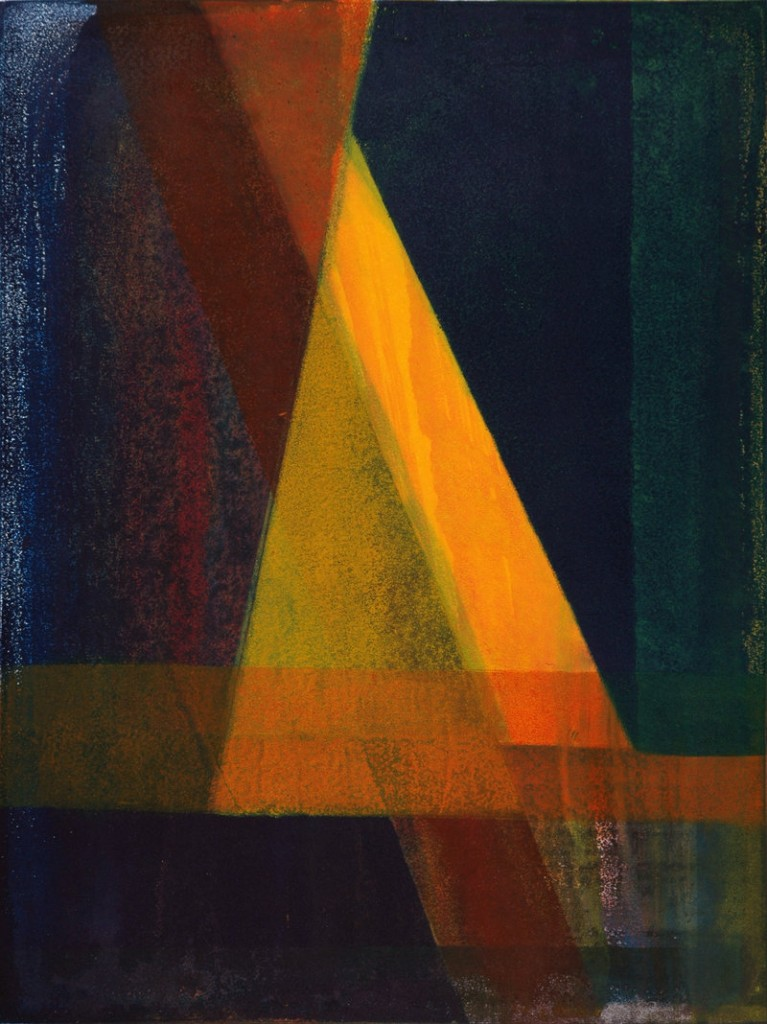 """Angle of Tranquility,"" monotype"