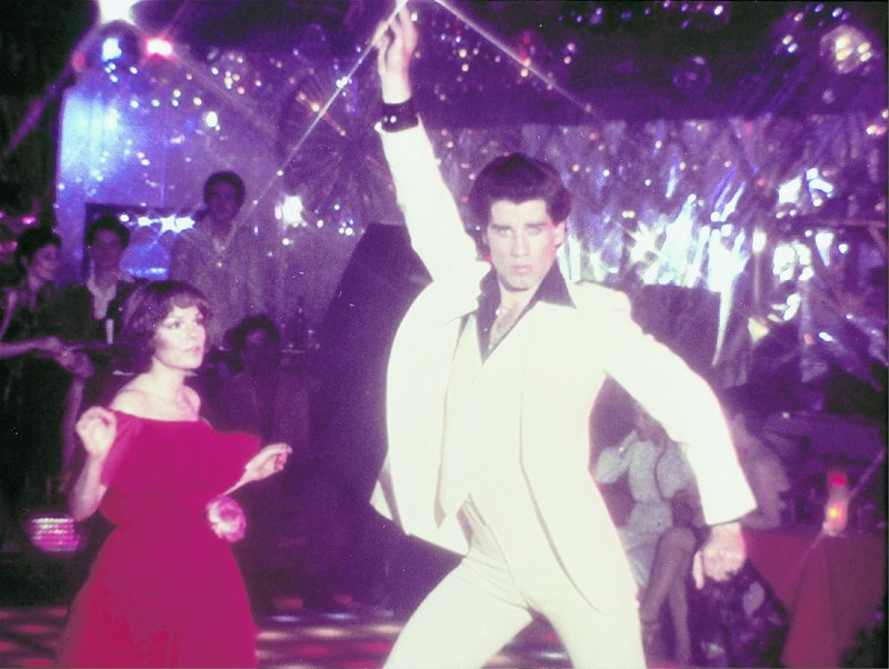 John Travolta, seen here in a disco scene from the 1977 film