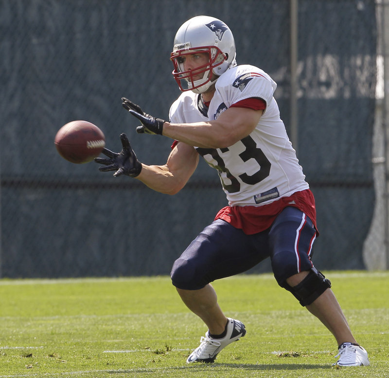 Wes Welker appears to be healthy, and that could be a big boost to the Patriots' receiving corps.