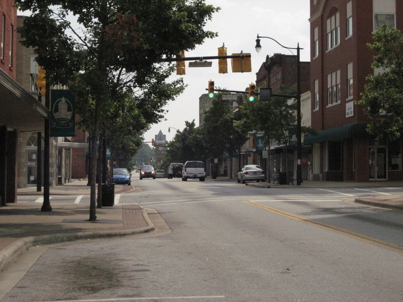 """Downtown Gaffney, S.C., where Libby Mitchell grew up, is now a series of payday loan shops, vacant stores and a few businesses, but it was bustling in the 1950s. """"It was a time of innocence,"""" says childhood friend Vicki Roark of Gaffney."""