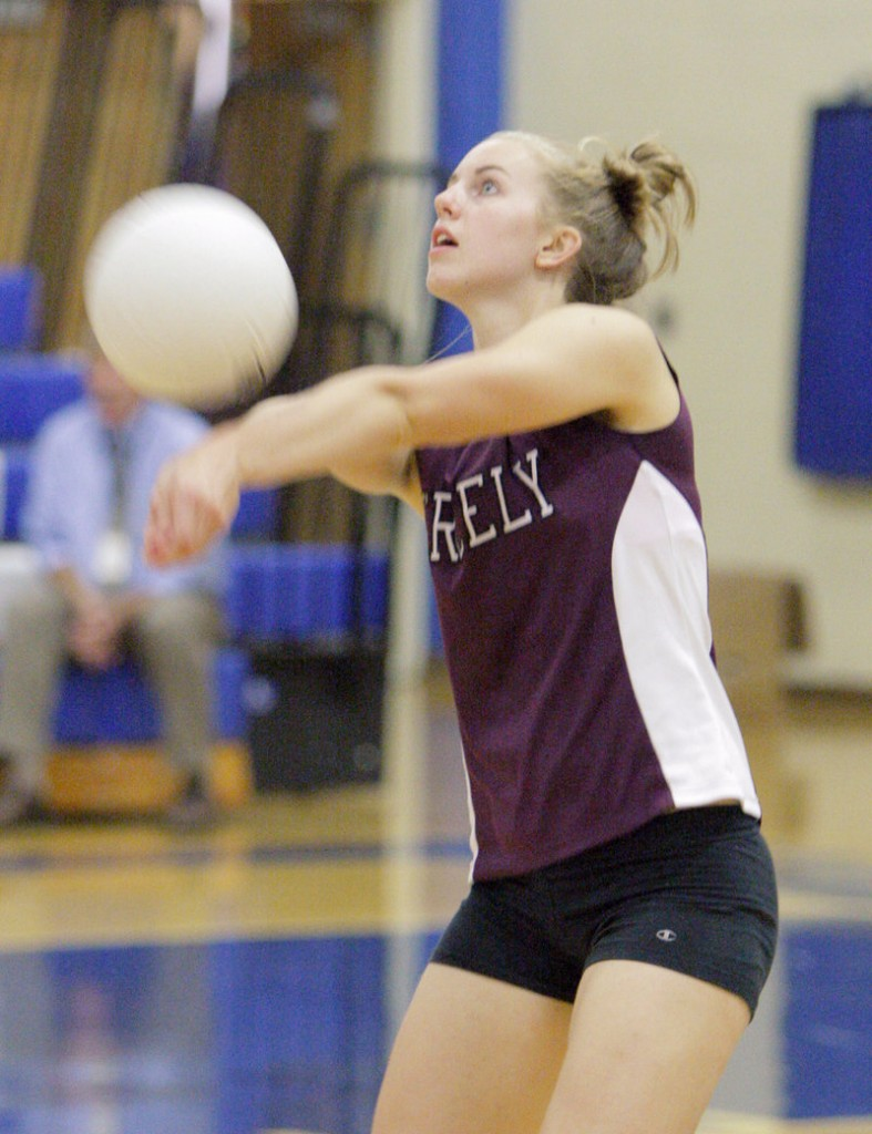 Sara Warnock of Greely will spend her senior season playing opposite hitter, a position she was set to play last year before an ankle injury sidelined her.