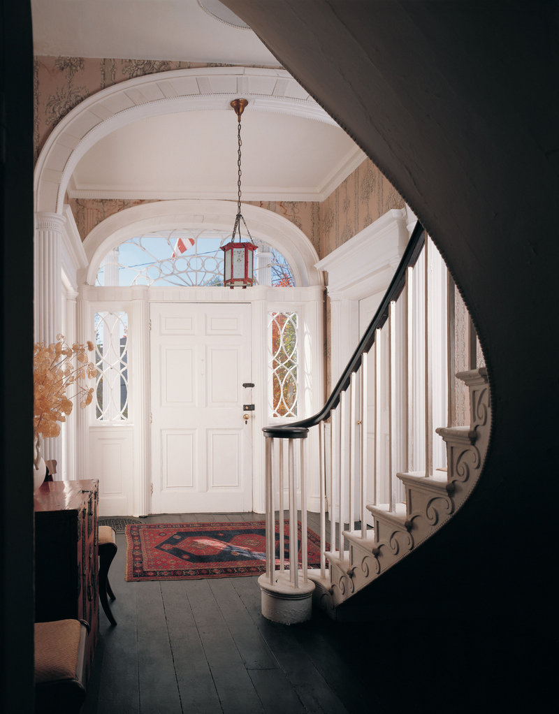The entryway at the Nickels-Sortwell House in Wiscasset.