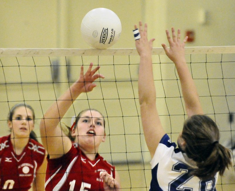Brittany Bona of Scarborough plays every position for a team that hopes to make an impact in volleyball this season. Bona is known for defense, as well as passing when the Red Storm control the ball.