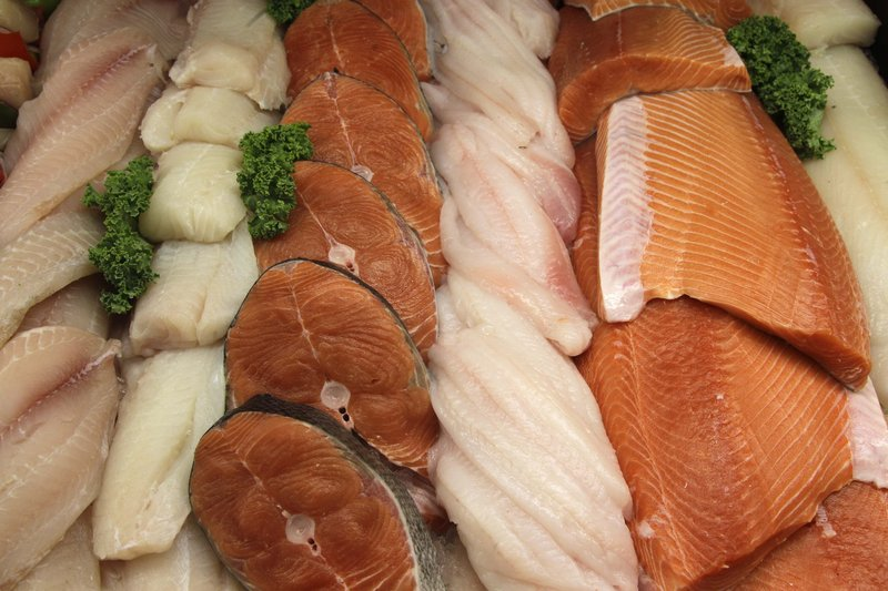 Seafood at Whole Foods, like these fish displayed at a store in Hillsboro, Ore., will be given color-coded ratings that measure its sustainability.