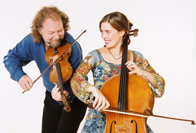 Scottish fiddler Alasdair Fraser and cellist Natalie Haas will perform at the Boothbay Harbor Opera House on Thursday.