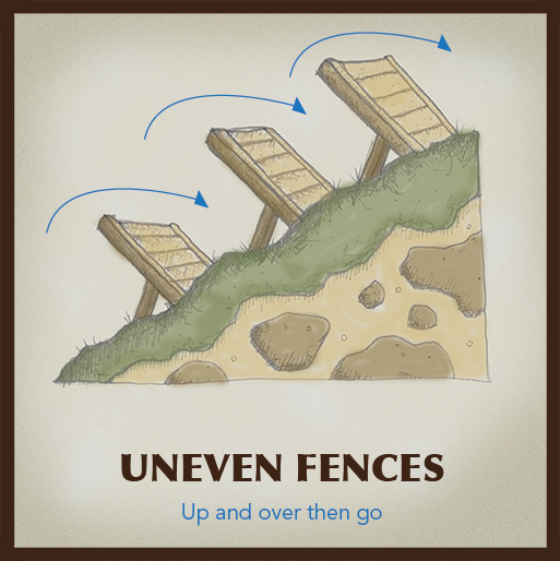 One of the 15 obstacle stations planned for the Shawnee Peak Challenge.