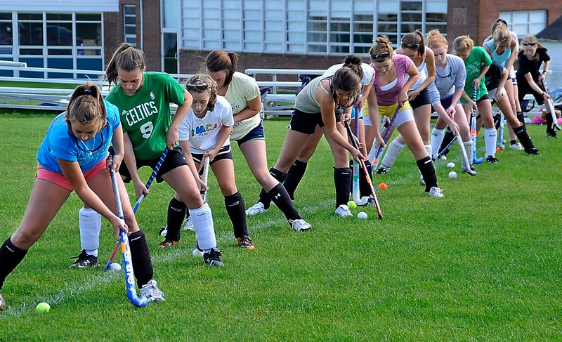 Some of them played field hockey for Rockland last season, others for Georges Valley. This year, getting a jump on the consolidation of the schools, the programs have combined to form one team. And the players are learning about each other, on and off the field.