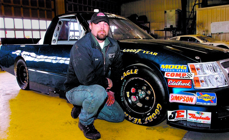Dale Brackett of Strong has his eyes firmly set on NASCAR's truck series. Another Maine driver, Johnny Clark, is just as passionate about a much smaller series.