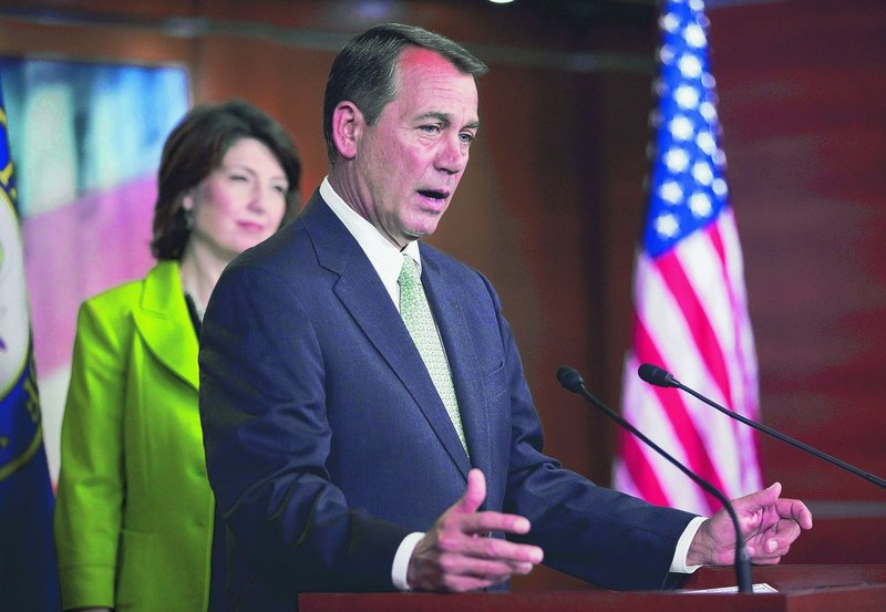 House Minority Leader John Boehner, R-Ohio, accompanied by Rep. Cathy McMorris Rodgers, R-Wash., says letting tax cuts expire is the wrong thing to do in a struggling economy.