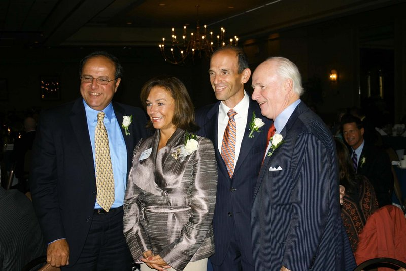 From left, Bill Caron, president of MaineHealth, Danielle Ripich, president of the University of New England, Gov. John Baldacci, and Richard Connor, MaineToday Media editor and publisher.