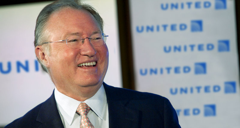 United Airlines President and CEO Glenn Tilton attends a shareholders' meeting in Elk Grove Village, Ill.