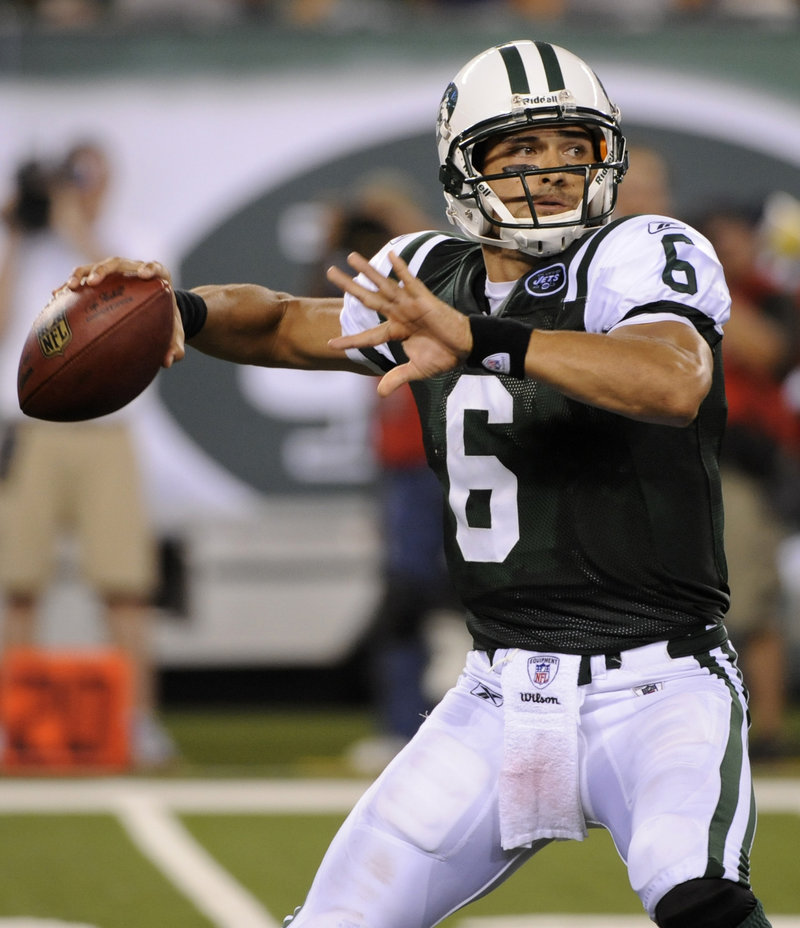 Jets quarterback Mark Sanchez was atrocious in the season opener, throwing for just 74 yards against Baltimore. New York's offense gained 176 yards and was 1 for 11 on third down.