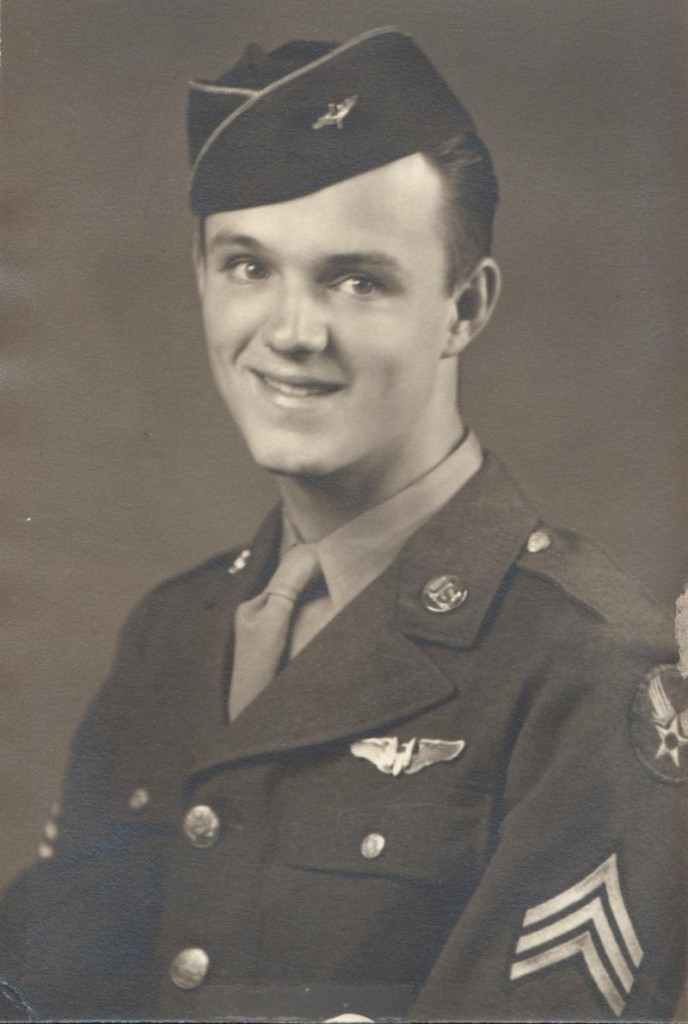 Lewis Johnson flew more than 30 combat missions over Germany in a B-24 Liberator in World War II.